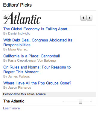 Google News Editors Picks