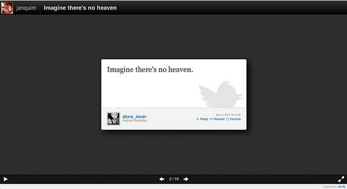 Storify Slideshow view