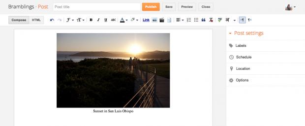 Blogger Editing Platform Upgraded