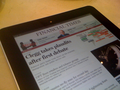 Financial Times on iPad