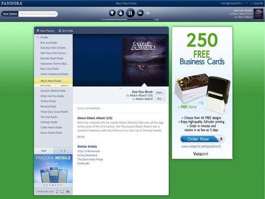 Pandora Launches HTML5 Music Player