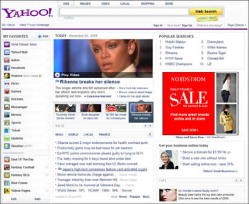 Yahoo Homepage Screenshot