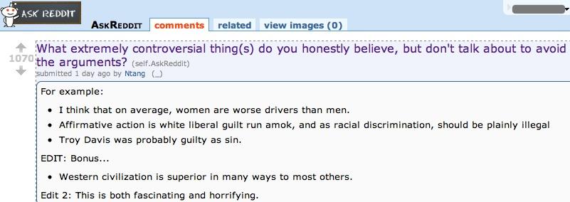 reddit sexist racist
