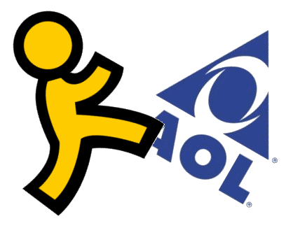 AOL Logo Getting Kicked