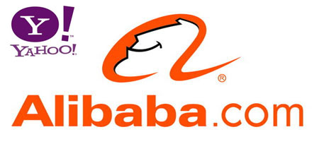 Alibaba and Yahoo Logos