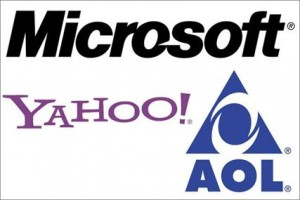 Microsoft Yahoo and AOL Logos
