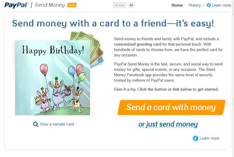 facebook send money