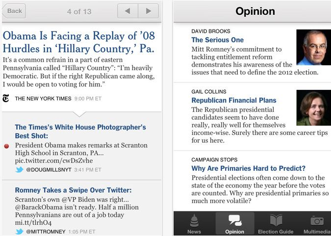 New York Times Election App