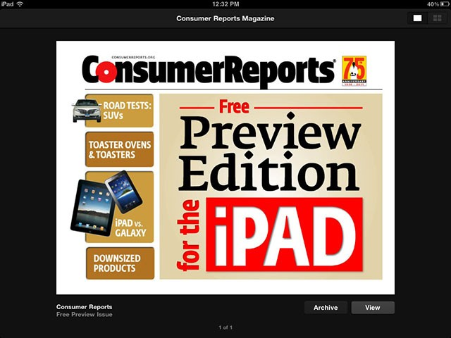 consumer reports ipad