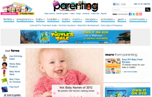 Parenting Dot Com Website